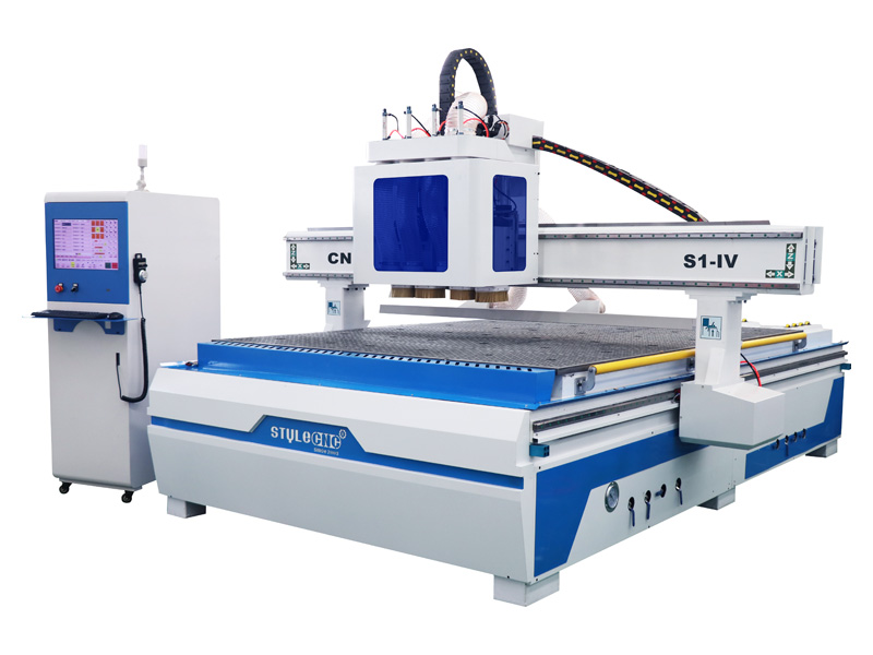 4 spindles simple atc CNC router machine