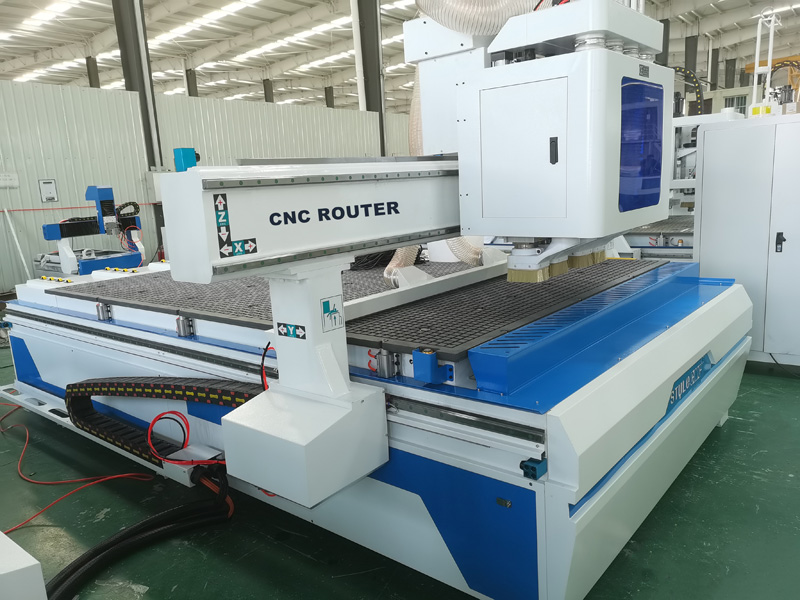 4 spindles simple atc CNC router machine body