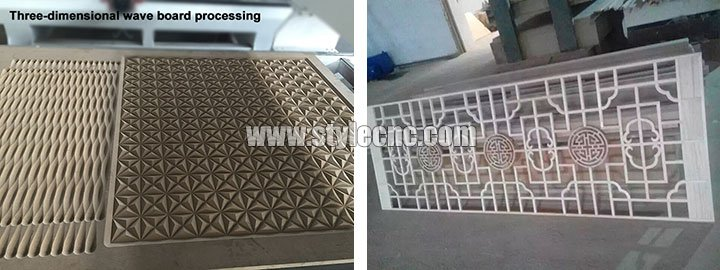 4 spindles simple ATC CNC router machine samples