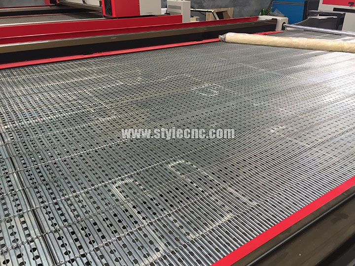 Flat table for CO2 laser cutting machine