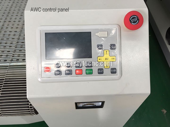 Control panel for CO2 laser cutting machine