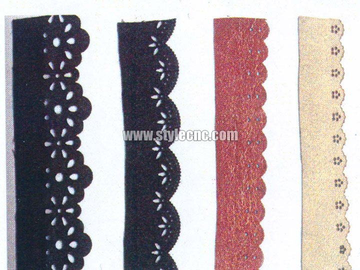 Cloth cutting samples by CO2 laser cutting machine