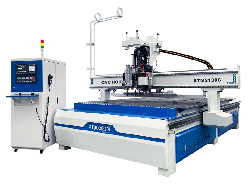 Intelligent 3 heads CNC router machine with auto nesting system