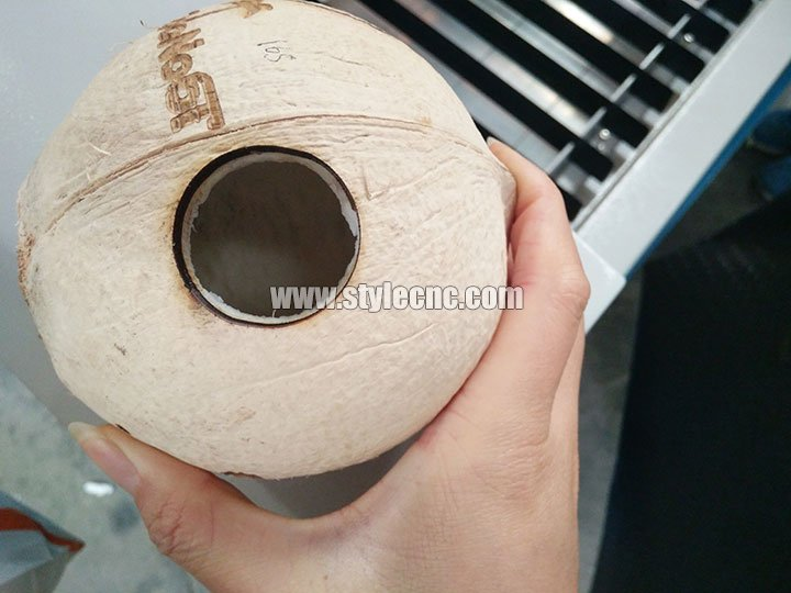 Coconut laser engraving and cutting