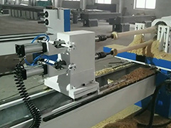 CNC lathe and turning machine for round wood process