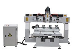 STYLECNC® 1325 3D CNC router machine with 4 axis rotary