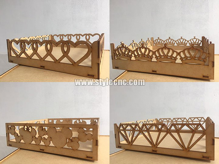baby bed MDF laser cutting projects