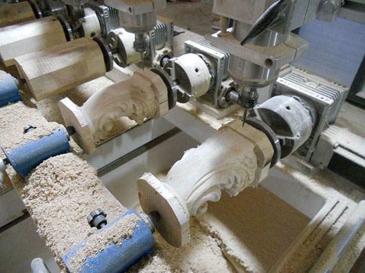 How to fix rotary for a multi-heads CNC router?