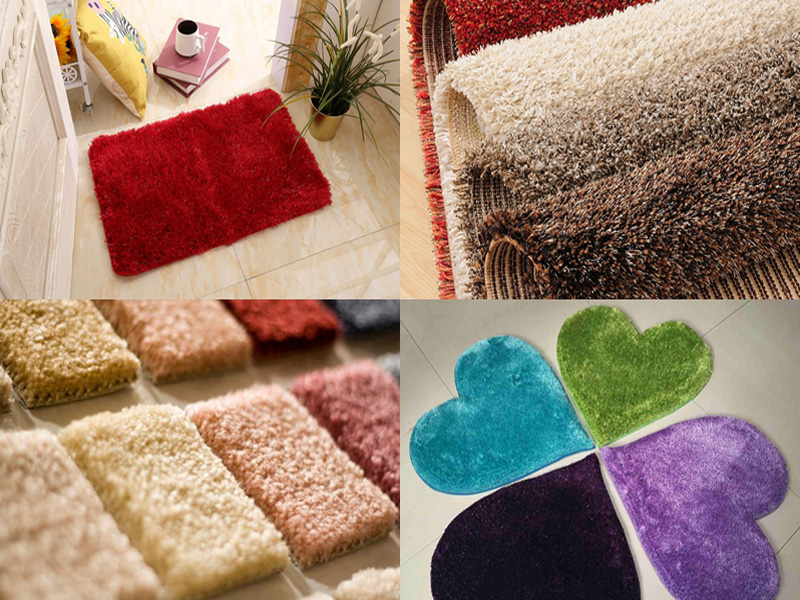 Carpet cutting sample by CNC oscillating knife cutter