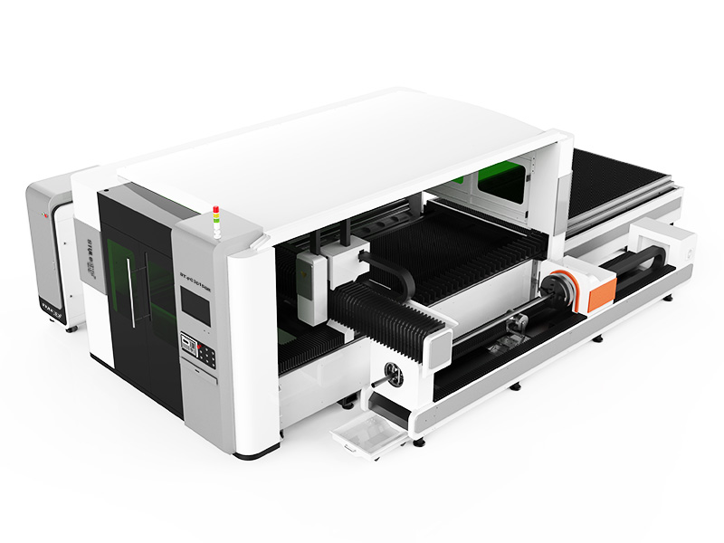 The First Picture of Dual-Purpose Fiber Laser Cutting Machine for Metal Sheet, Tube and Pipe