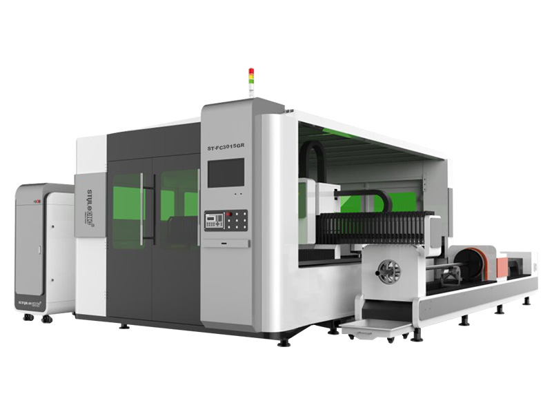 Dual-purpose laser cutting machine for sheet metal and metal tube