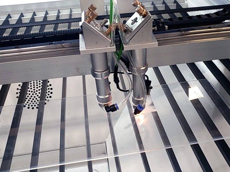 Double laser heads for laser engraver STJ1390-2