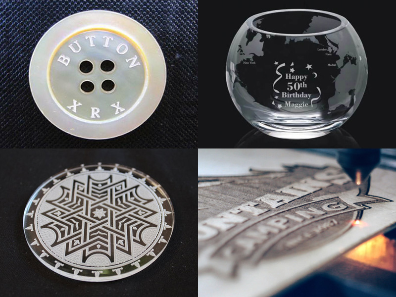 Acrylic laser engraving and cutting projects