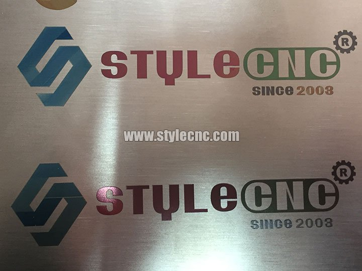 Color laser engraving machine samples