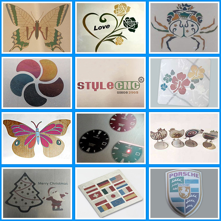 Color laser engraving machine projects