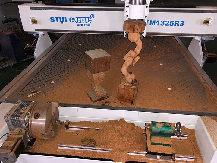 4 axis CNC router machine 1325 with rotary