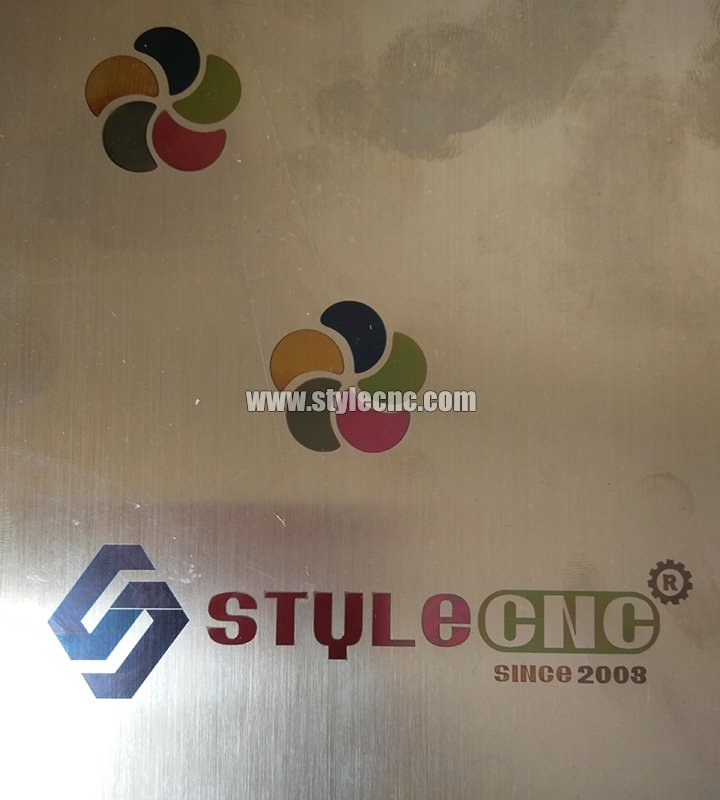 Color fiber laser marking machine sample