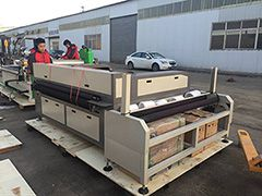 Auto feeding fabric laser cutting machine STJ1610-2A is ready for delivery to Ecuador
