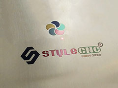 Color logo on stainless steel marking by fiber laser marking machine