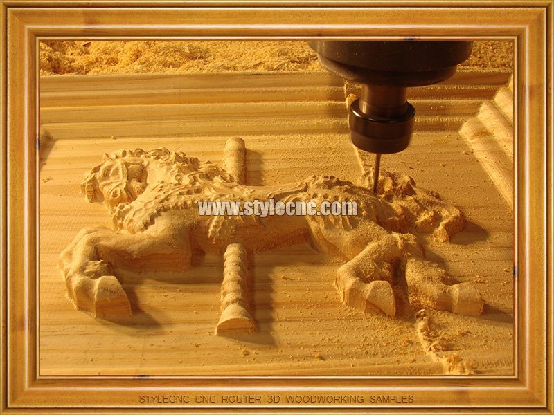 Stylecnc 174 Cnc Router For 3d Woodworking Samples Wood