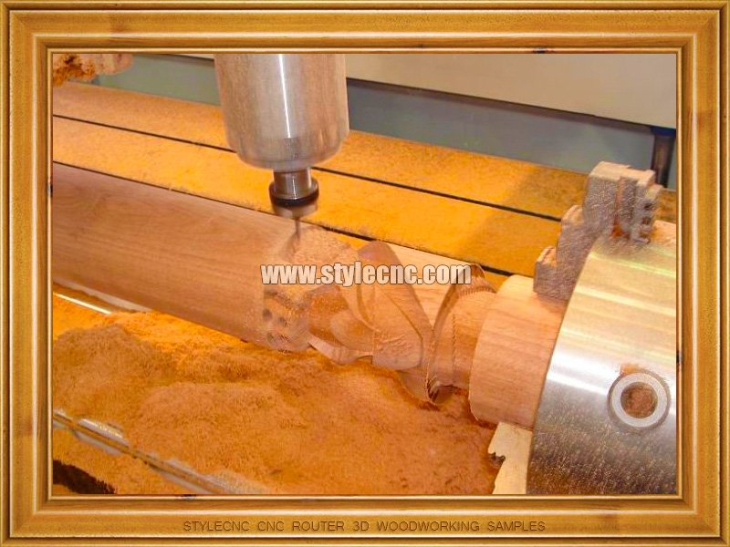 Cylinder CNC Router 3D Woodworking