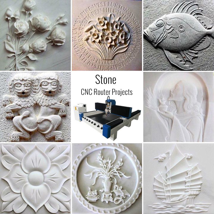 stone samples of cnc router