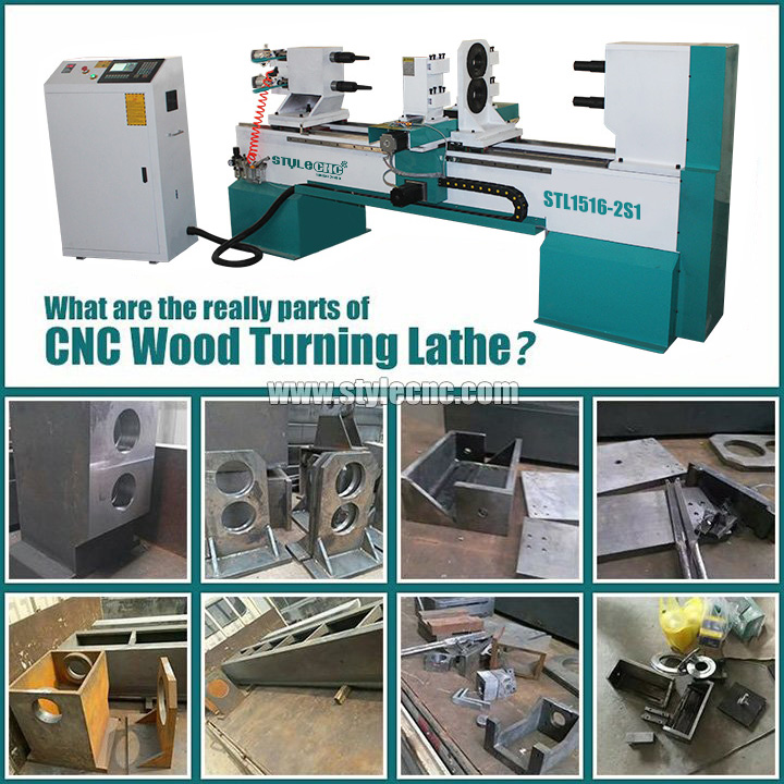 Industrial CNC Wood Turning Lathe Machine for Table Legs, Stair Balusters and Spindles