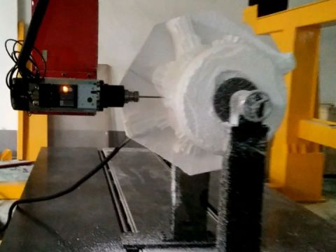 Video of 4 Axis CNC Router for Foam Carving