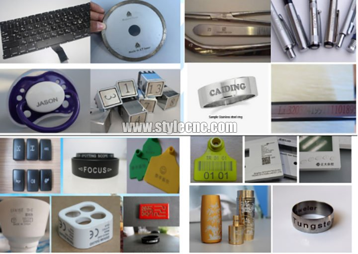 laser marking machine samples