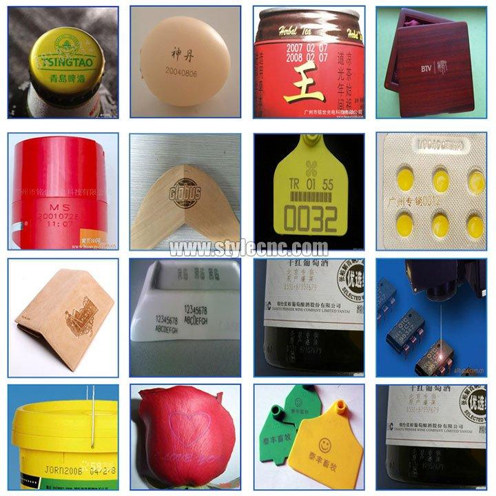 co2 laser marking machine samples