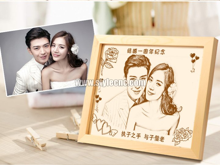 Woodcut painting laser engraving machine