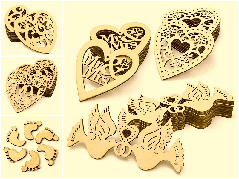 CO2 laser cutting machine for woodcrafts