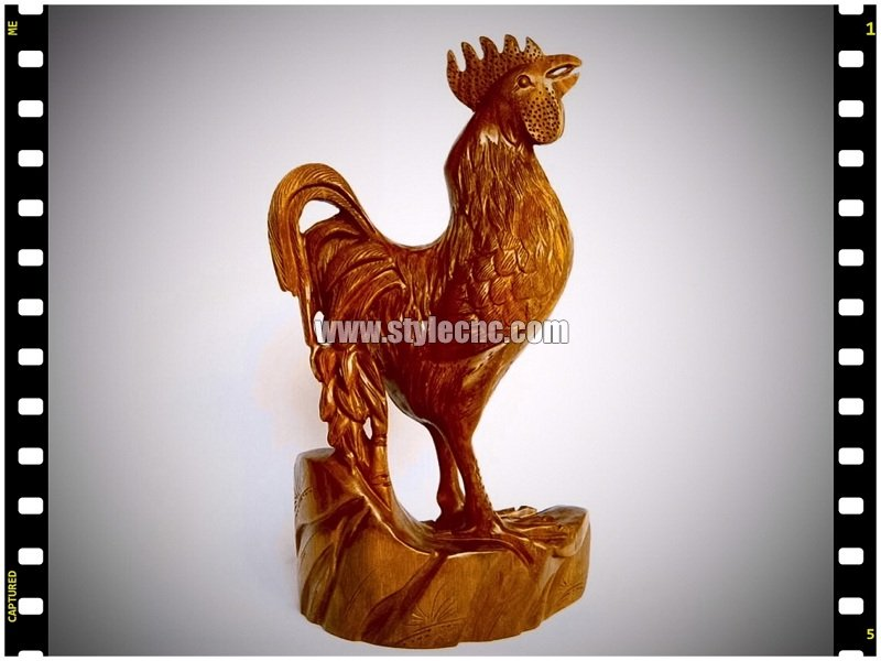 3D wood rooster