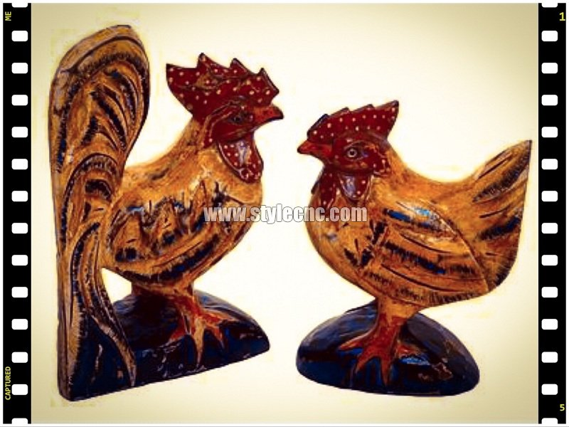 Wood rooster crafts