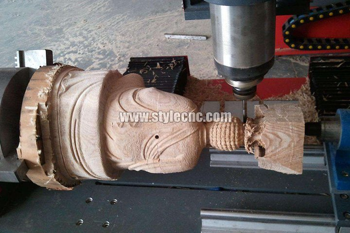 Rotary Axis CNC Router for Crafts