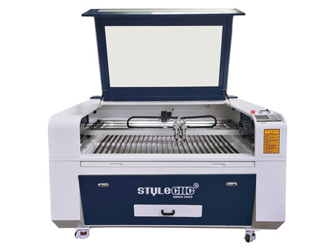 2 Heads CNC Laser Cutter for sale with best price