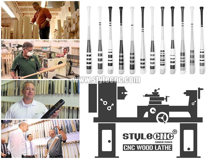 CNC wood lathe for baseball bats