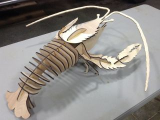 Plywood laser cutting machine 1390 cut langouste samples