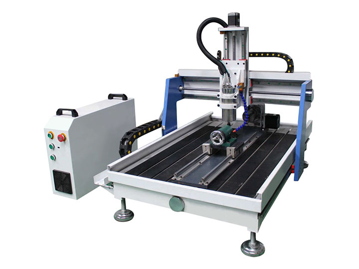 STG6090 Mini Desktop Woodworking CNC Router with 4th axis rotary