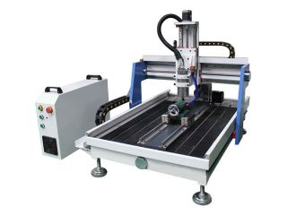 Mini Desktop CNC Router with 4th axis rotary table
