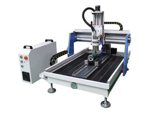 6090 Mini Desktop CNC Router with 4th axis rotary