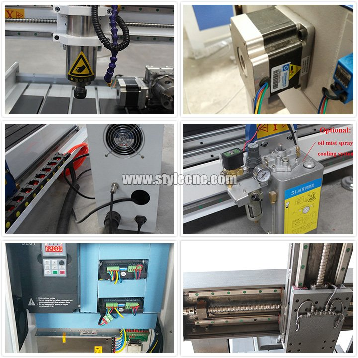Features of Mini Desktop CNC Router with 4th axis rotary