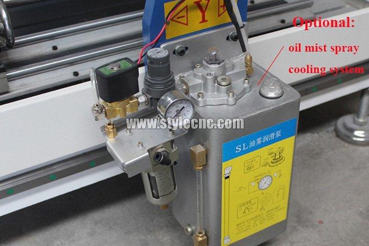 Oil mist spray cooling system
