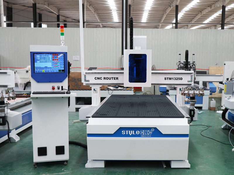 The First Picture of STYLECNC® CNC Router for Aluminum with Disk Automatic Tool Changer System