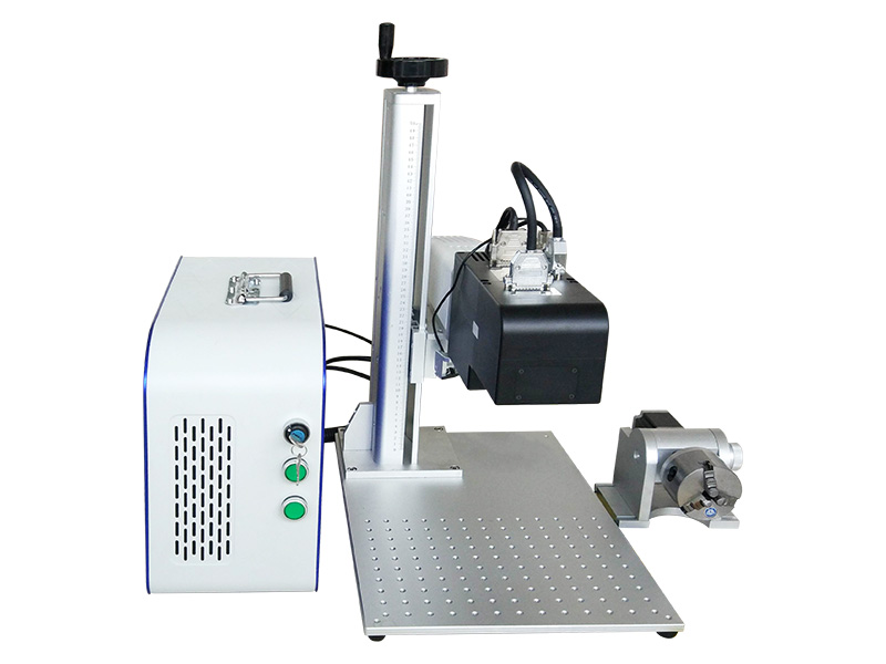 The First Picture of 50W fiber laser deep engraving machine for metal