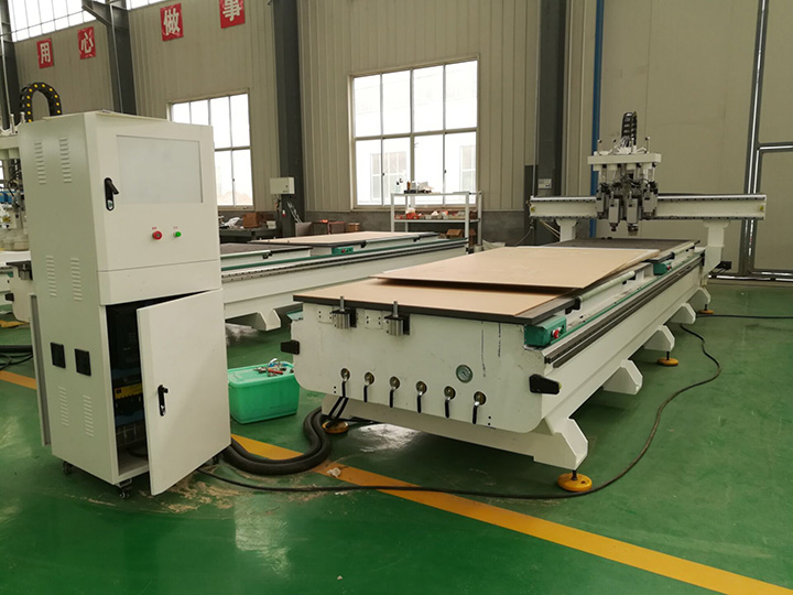 Pneumatic ATC CNC router with 4 spindles is ready for delivery to Indonesia