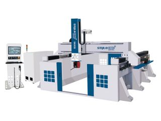 <b>Large Format 5 Axis CNC Router Machine for 3D Milling and Carving</b>