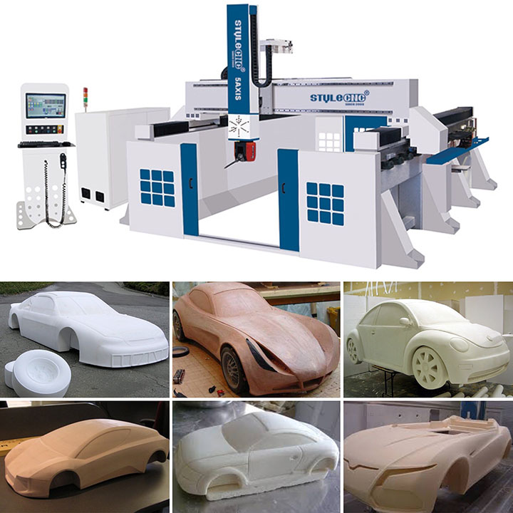 Car Body Making Projects by 5 Axis CNC Router
