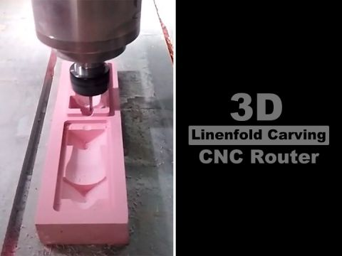 3D Linenfold Carving CNC Router Machine for woodworking
