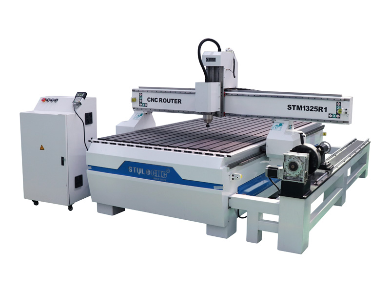 4' x 8' CNC router with 4th rotary axis